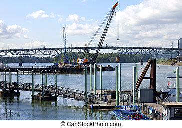 construction, de, a, nouveau, bridge.