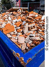 construction debris at site