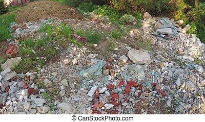 Construction debris off the road