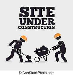 Construction design. - Construction design over white ...