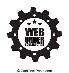construction design over white background vector...