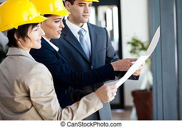 construction, directeurs, groupe