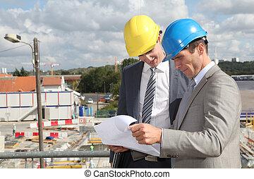 construction, directeurs, site