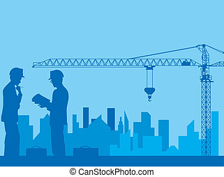Construction, designing of new area, architecture, engineer...