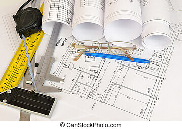 Construction drawings. Desk builder