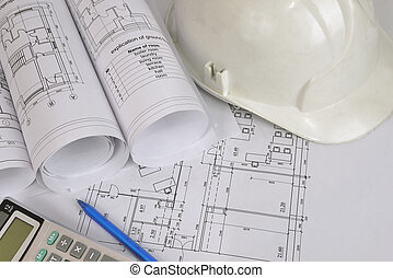 Construction drawings. Workplace architect