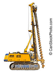 Construction drilling machine, isolated