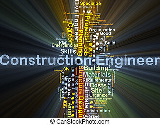 Construction engineer background concept glowing