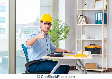 Construction engineer working on new project