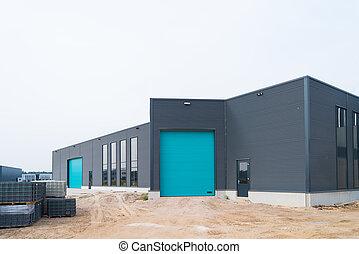 construction, entrepôt, sous