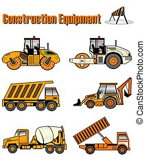 CONSTRUCTION EQUIPME - Construction equipment illustrations...