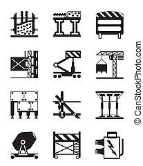 Construction equipment and materials - vector illustration