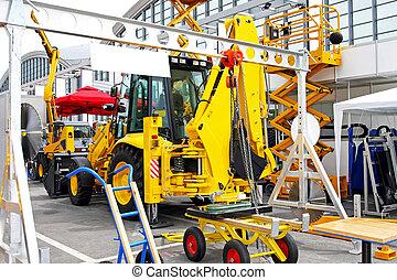 Bunch of heavy industry construction equipment tools
