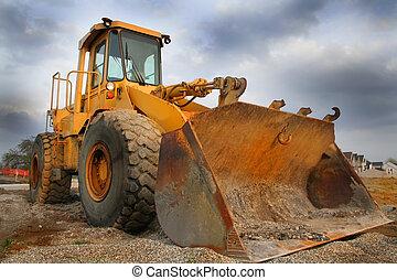 Construction Equipment - Construction equipment with sky...