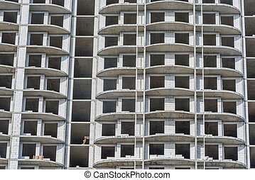 construction, extérieur, logement, time., vue, bâtiment