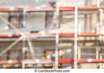 construction, fond, brouillé