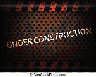 construction, fond, sous
