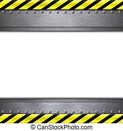 Construction frame borders on plain background