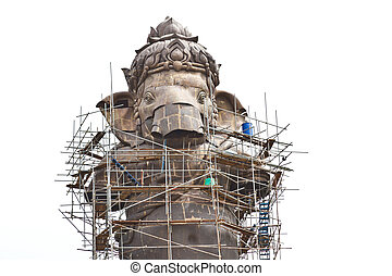 Construction, Ganesh hindu god in Thai temple