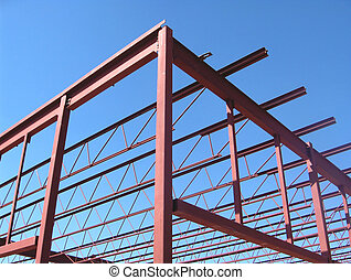 Construction - Girders of a new box sotre