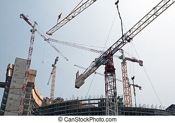 construction, gratte-ciel