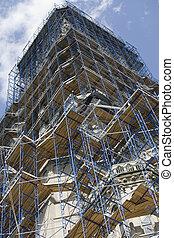construction, gratte-ciel, site