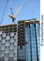 construction, gratte-ciel, sous
