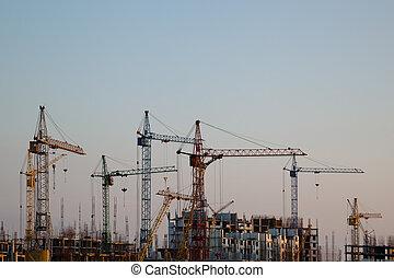 construction, grues