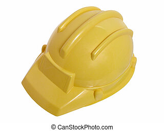 Construction Hat - Bright yellow toy construction helmet...