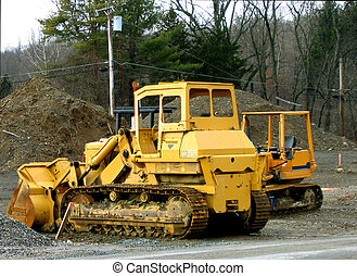 Construction - Heavy machinery at construction site