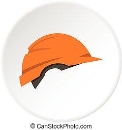 Construction helmet icon circle