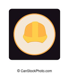 construction helmet isolated icon vector illustration design