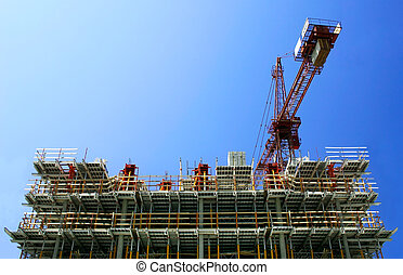 Construction - Highrise building under construction. Top ...