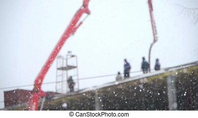 construction, hiver