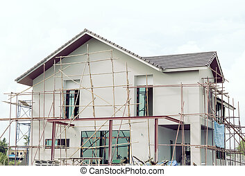 construction home Building with under construction