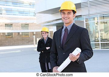 construction, homme affaires