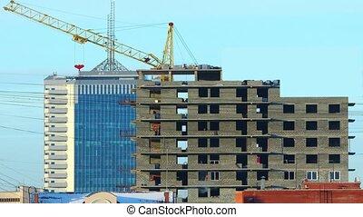 construction, house., time-lap