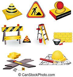 construction, icônes