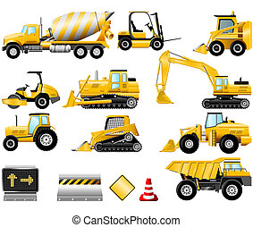 Construction icon set - Construction Machinery icons...