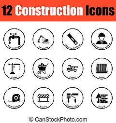 Construction icon set