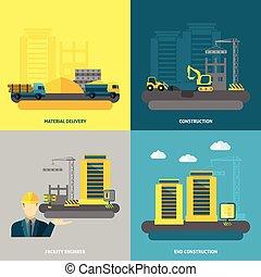 Construction Icons Flat