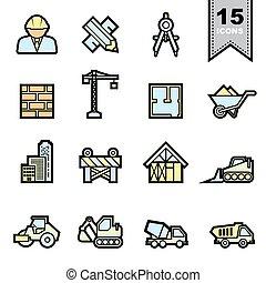 Construction icons set .Illustration eps 10
