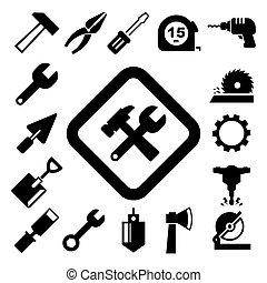 Construction Icons set. Illustration EPS10