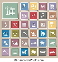 Construction Icons Sticker set
