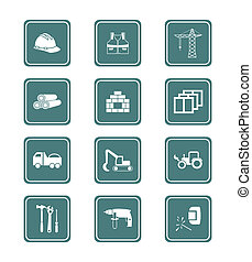 Construction icons | TEAL series - Construction tools, ...