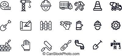 Construction icons vector design