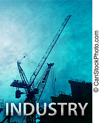 Construction industry - Digital collage illustration of ...