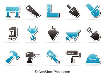 Construction industry icons - Construction industry and...