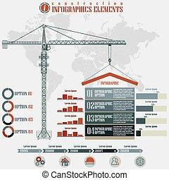 construction, infographics, éléments