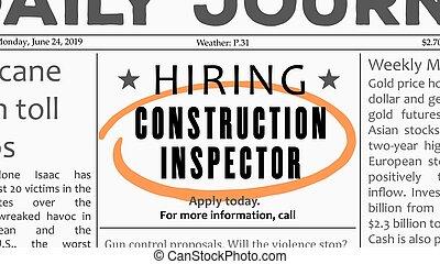 Construction inspector career